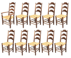 A Set of Moustache Ladder Back Chairs