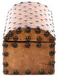 19th Century Box with Embossed and Studded Leather
