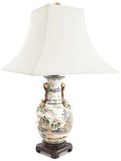 Chinese Glazed Table Lamp