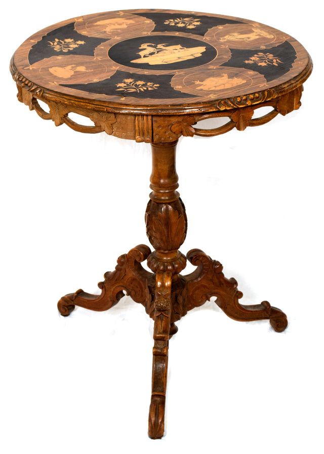 A Swiss Black Forest Occasional Table