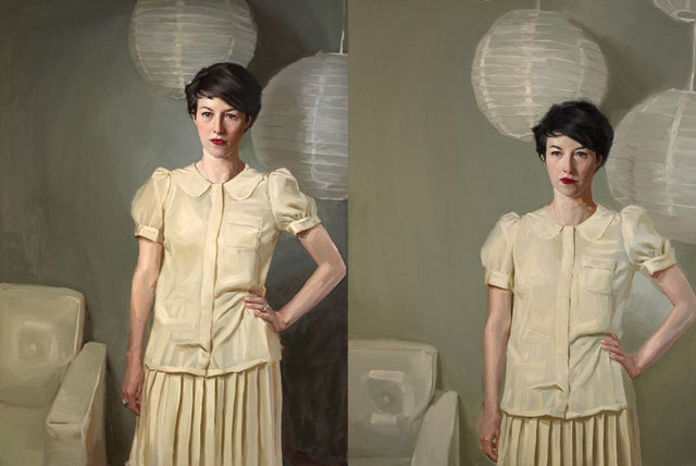 Comparison Diptych by Mary Sauer