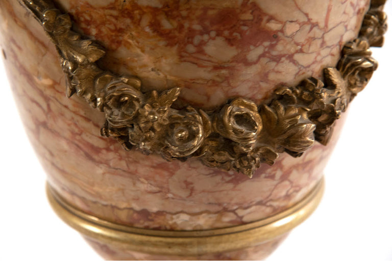 French Marble Cassolette with Ormolu (c. 1860)