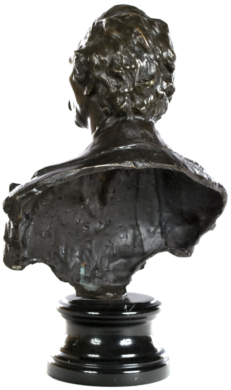 A Bronze Bust of a Gentleman by Charles-Henri Joseph Cordier