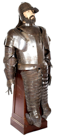 Early Seventeenth-century Suit of Armor with Stand and Mannequin