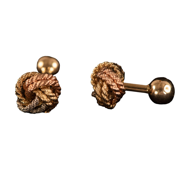 Tri-color Gold Knot Cufflinks