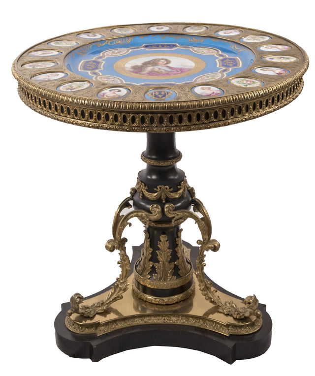 19th Century Sevres Portrait Salon Table