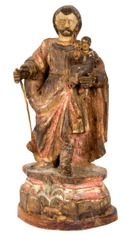 A 17th-Century Iberian Statue of a Saint