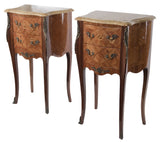 Pair of French Louis XV Style Petite Commodes