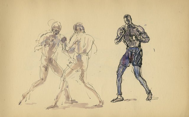 Sparring by Mahonri Young
