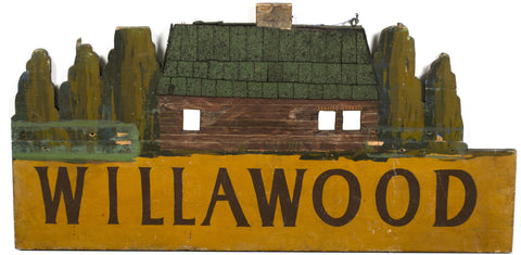 Cabin Sign Painted by the Artist Grant Wood