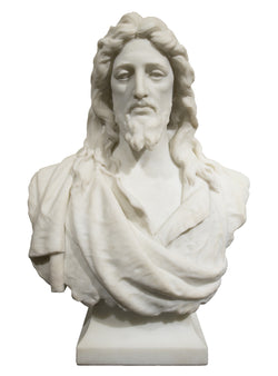 19th Century Marble Bust of Jesus Christ (1901) by Samuel James Kitson