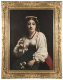 A 19th Century Portrait of an Italian Woman by Étienne Adolphe Piot
