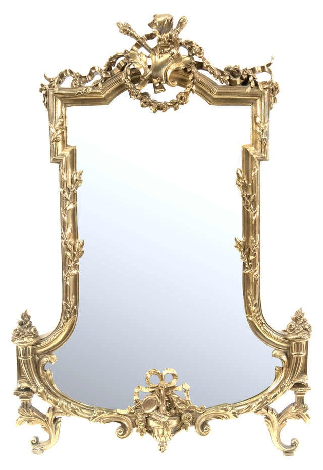 Louis XVI Gilt Bronze Wall Mirror