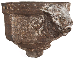 Architectural Lamb Head Basin and Fountain Mask