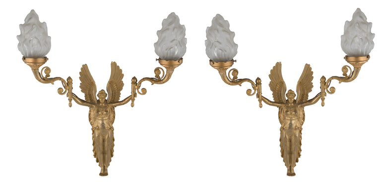 Pair of Regency Style Ormolu Wall Sconces