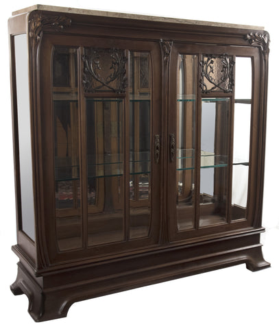 French Art Nouveau Mahogany Vitrine by Louis Majorelle