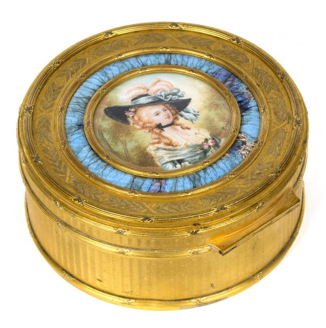 Portrait by Lié Louis Périn-Salbreaux on an Enameled Gold Snuffbox
