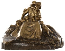 L. Alliot French Bronze of Mother with Children