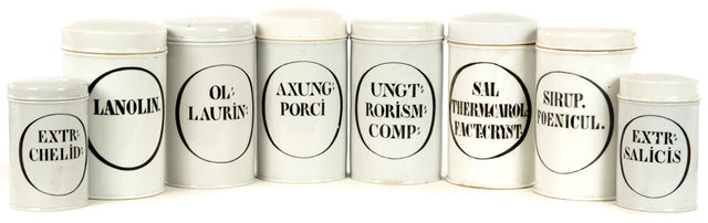 French Porcelain Apothecary Jars