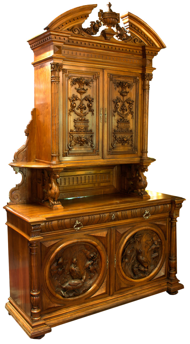 A Monumental French St. Hubert Deux Corps Cabinet