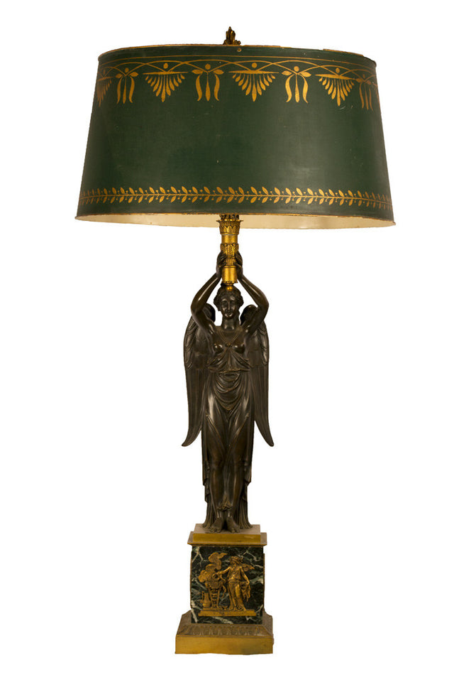 Bronze French Empire Lamp