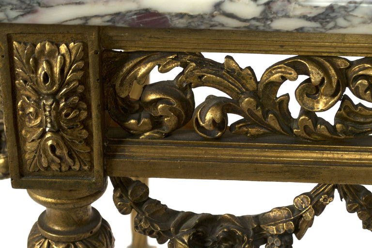 A French Napoleon III Gilt Wood Table