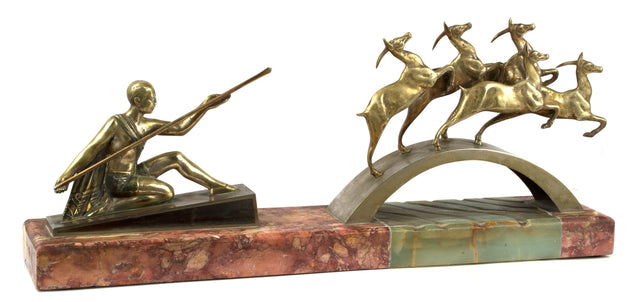 Bronze and Onyx Art Deco Sculpture
