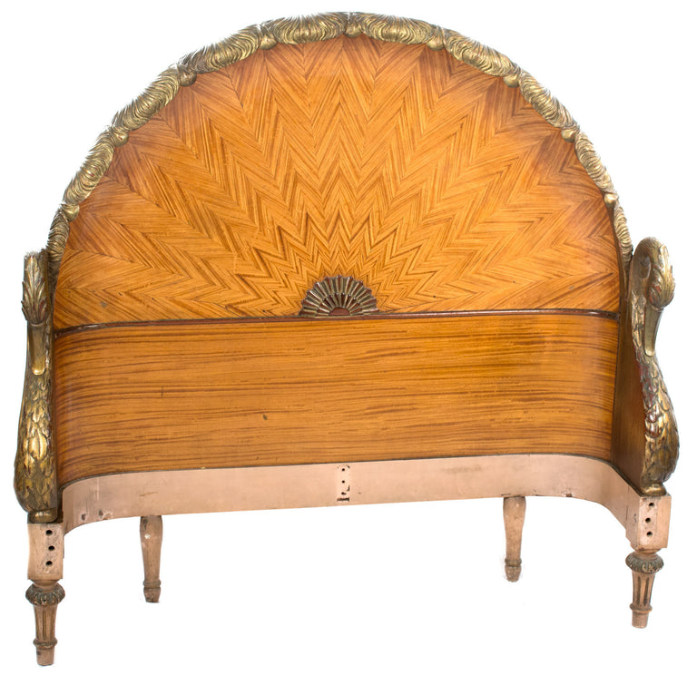 A French Art Deco Swan Bed