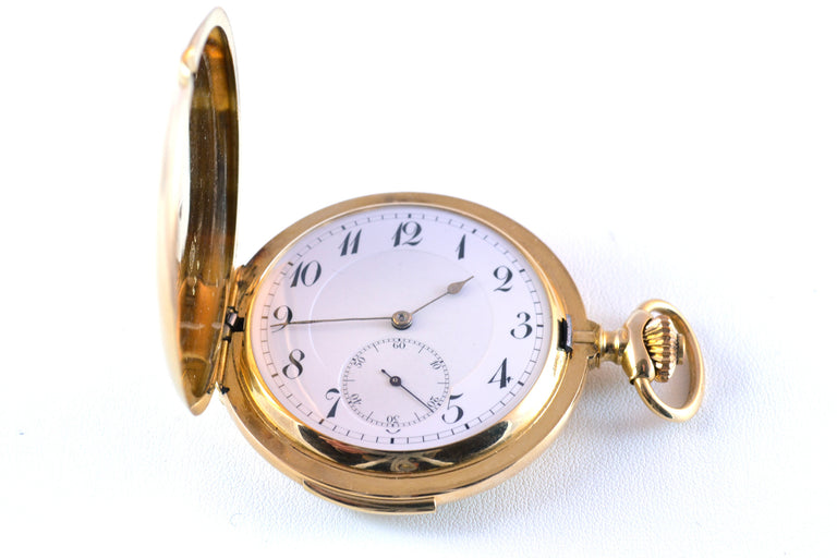 18 karat yellow gold quarter-hour repeater pocket watch