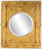 Carved and Gilt Italian Baroque Mirror