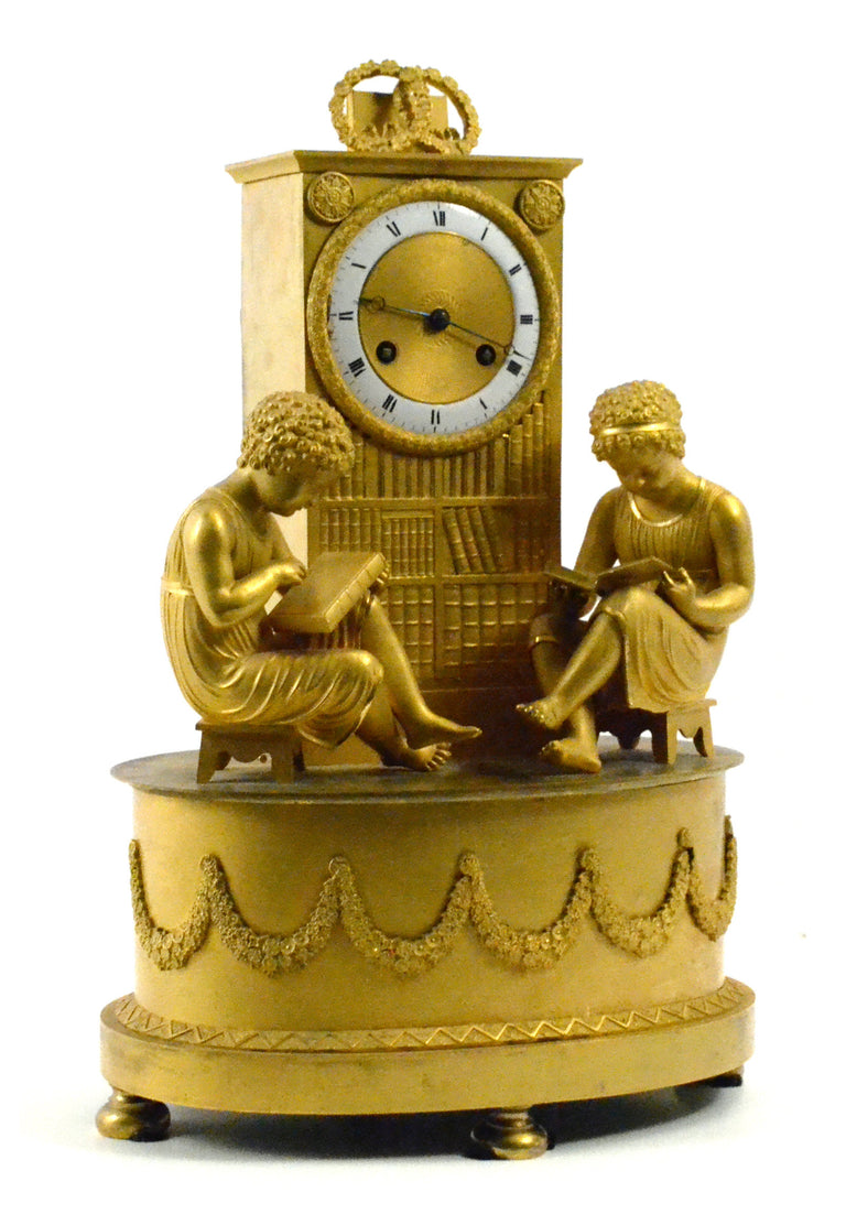 French Empire Ormolu Silk-Suspension Clock
