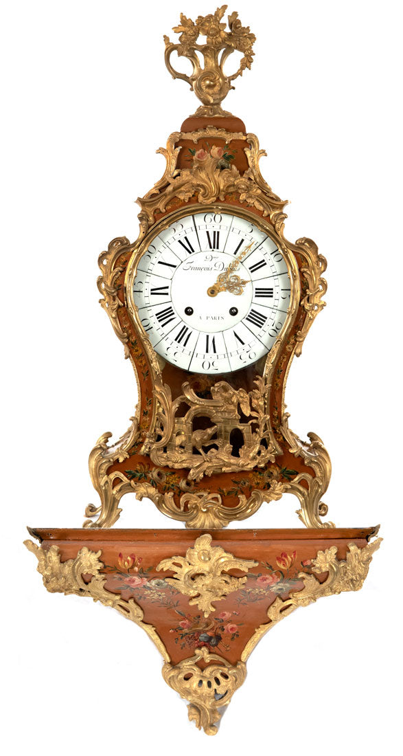 18th Century French Louis XV Clock by Denis-Francois Dubois