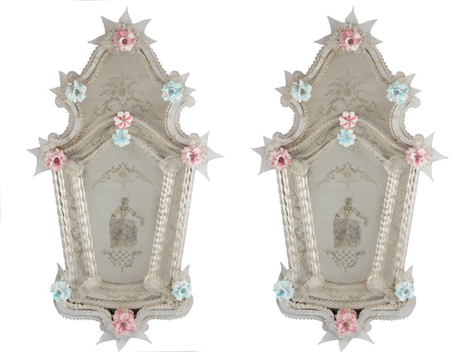 Pair of Venetian Glass Mirrors (c. 1860)