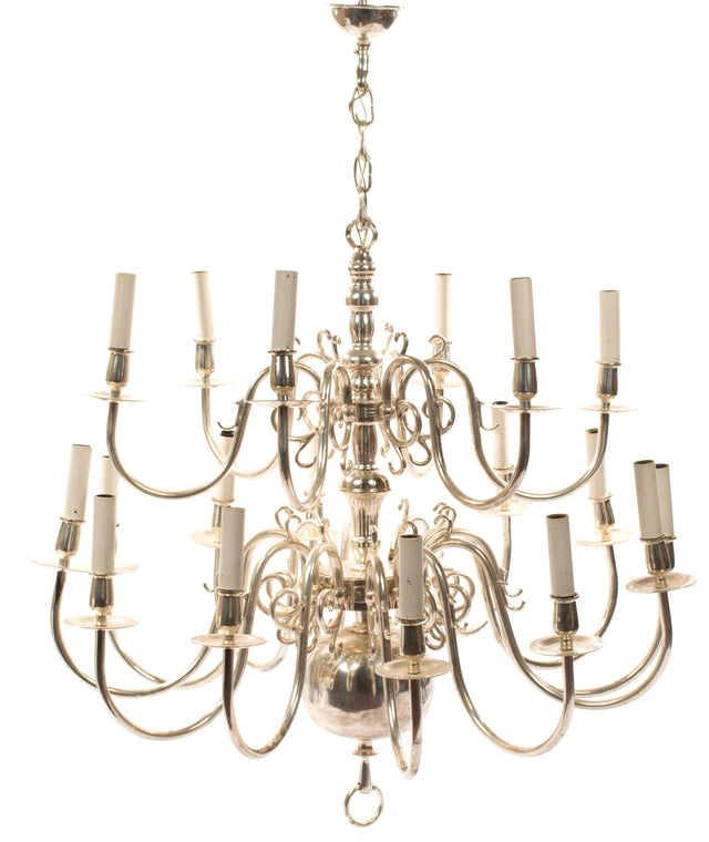 George III Style Eighteen Light Chandelier