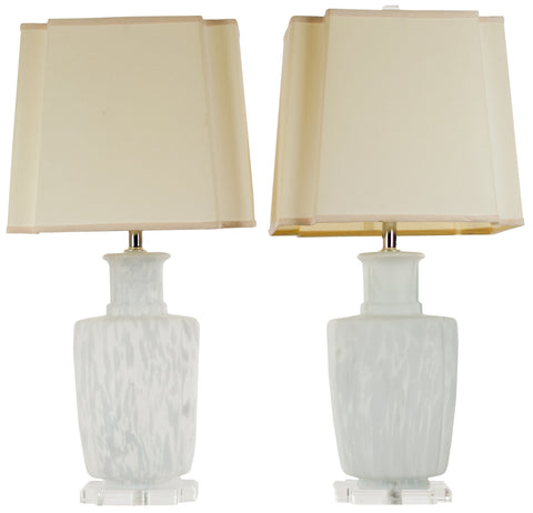 Pair of Italian Blown Glass Table Lamps