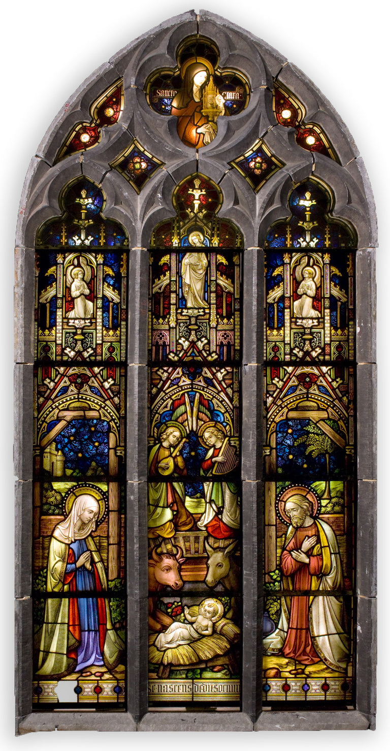 Belgian Stained Glass Windows Featuring the Life of Christ (c. 1850)