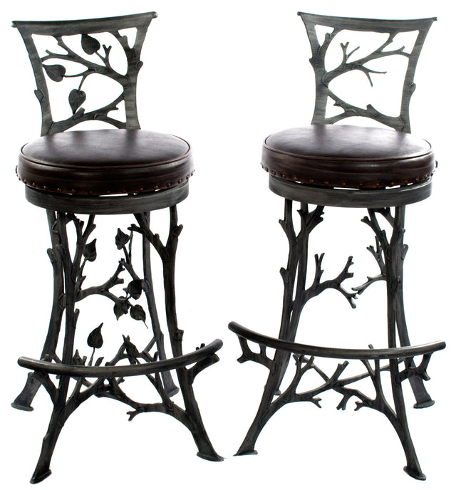 A Pair of Sculptural Branch Barstools