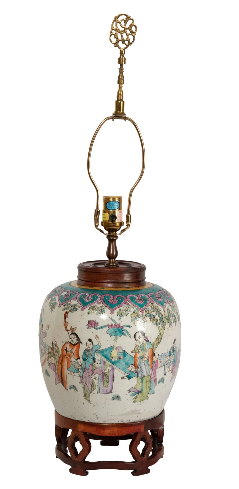 Lamped 19th Century Qing Vase
