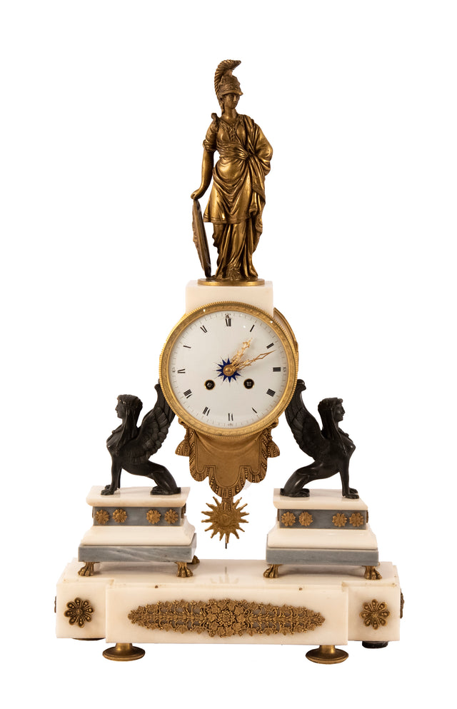 Napoleon III Greek Revival Mantle Clock