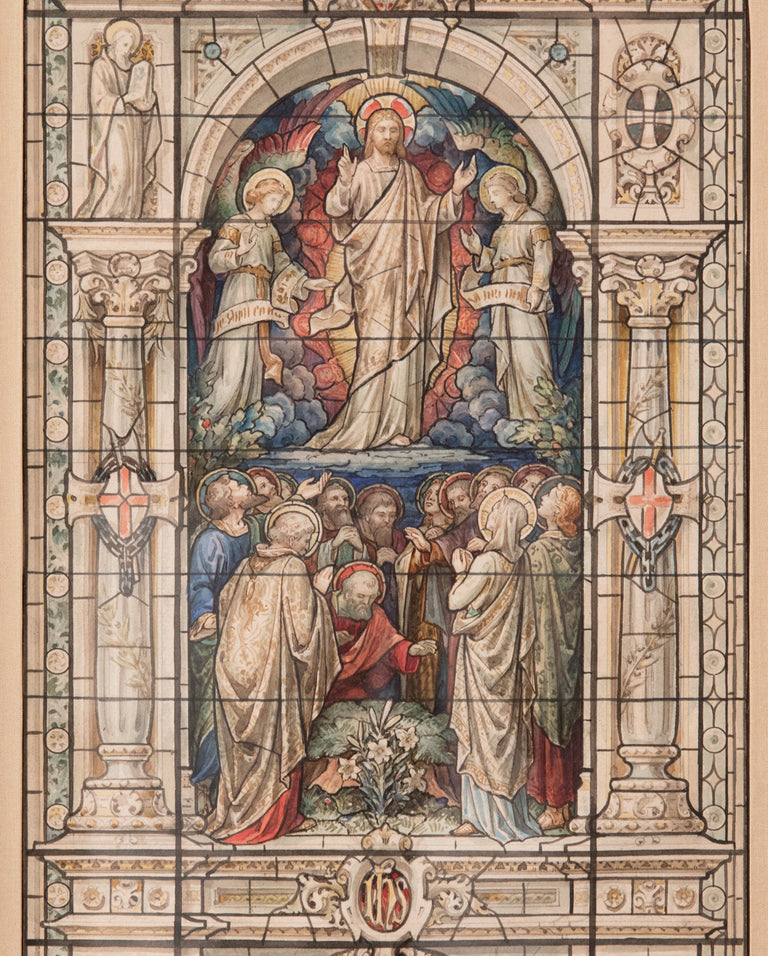 A Stained Glass Design for the Ascension of Christ