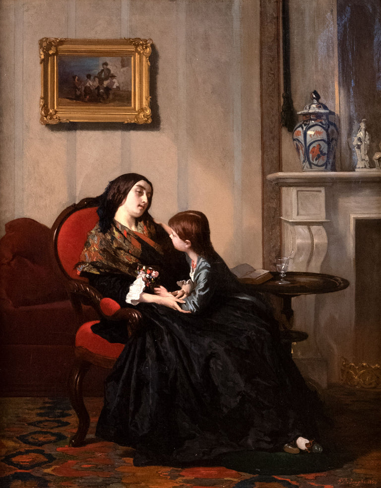 Comforting Mother (c. 1875) by Gustave De Jonghe