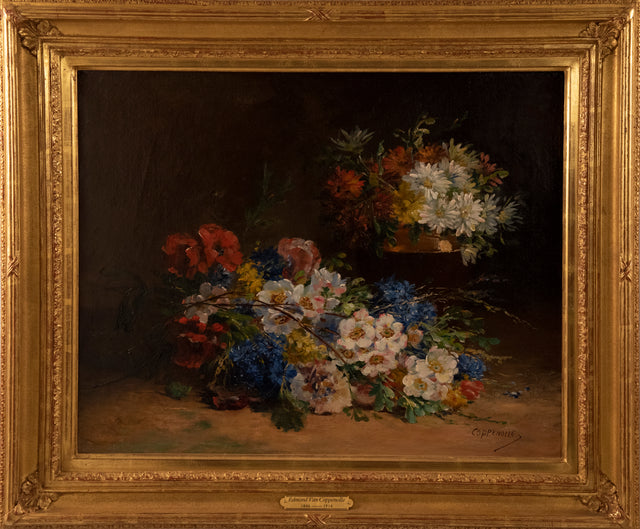 """Still Life of Flowers"" by Edmond Von Coppenolle"