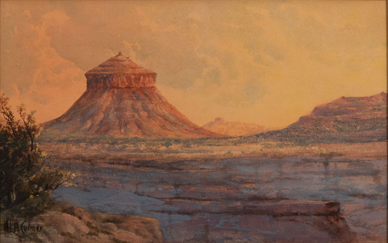 Cheese Box Butte, Utah by Henry Lavender Adolphus Culmer