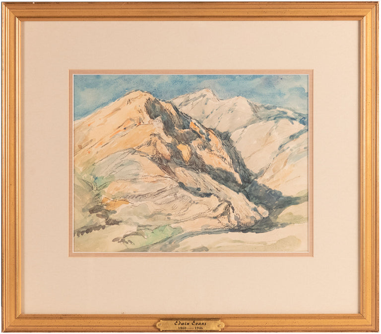 Mountain Watercolor by Edwin Evans