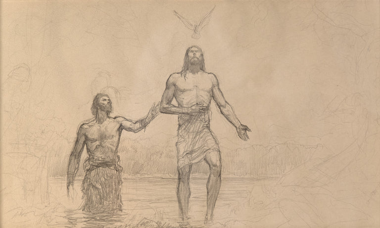 Baptism of Christ by Arnold Friberg