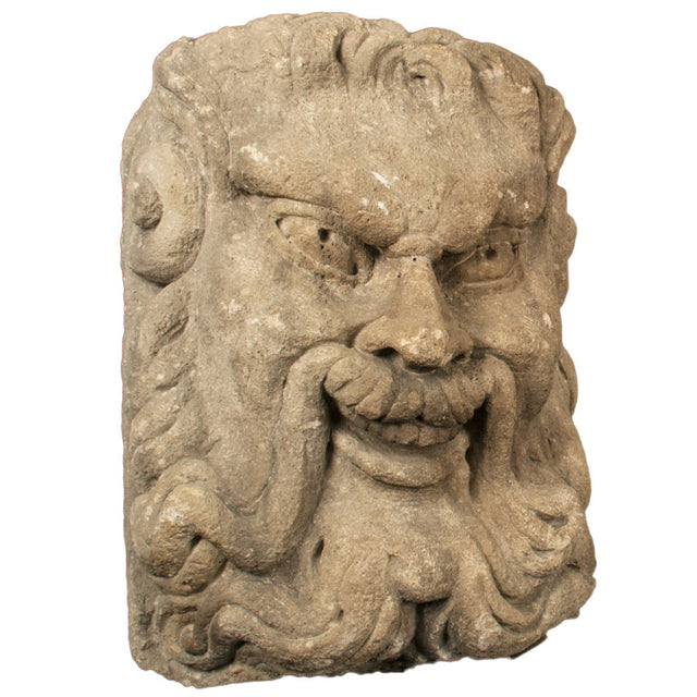 16th-Century Carved Limestone Gargoyle (c. 1575)