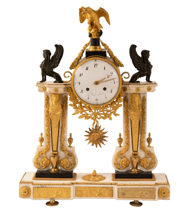 French Empire Gilded Ormolue Clock