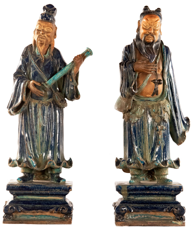 Pair of Porcelain Chinese Figures