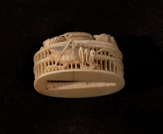 Netsuke of a Cricket Cage