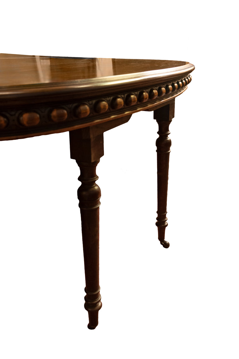 Monumental Louis XIV Style Walnut Dining Table